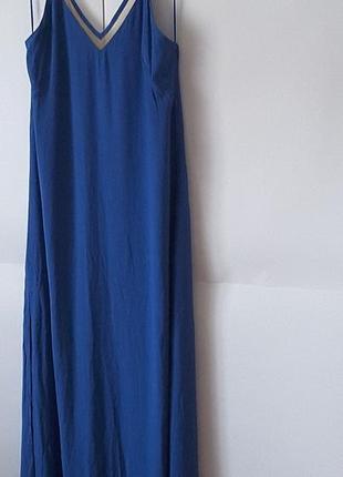 Суперплатье  в пол , королевский синий, castro,  израиль, uk 12, eu 40,