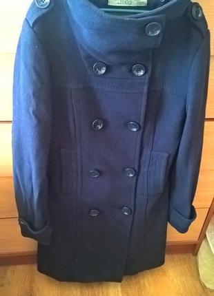 Пальто демисезонное шерстяное zara