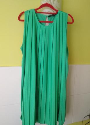 Плиссированное платье из комбинированной ткани от french connection