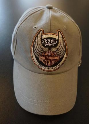 Оригинальная кепка бейсболка harley davidson 105 years серая