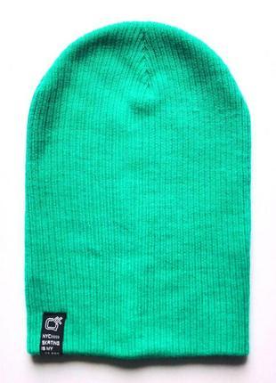 Подростковая двойная шапка бини, чулок, демисезон, takko fashion, 8-15+ лет