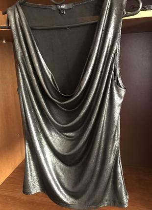 Женский модный вечерний топ tart с серебряным отливом