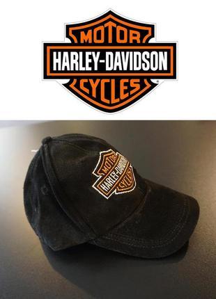 Оригинальная черная кепка бейсболка harley davidson