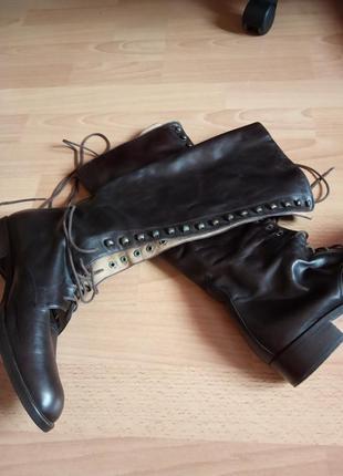 Брендовые,шикарные,кожаные ботинки,полусапоги,37р,от бренда manfield