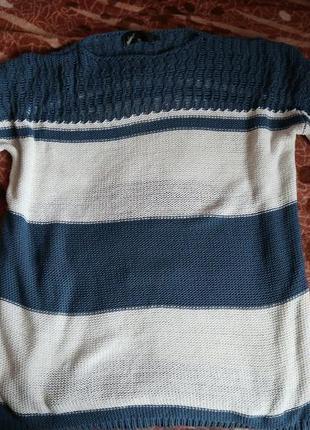 Свитер в полоску, свитер