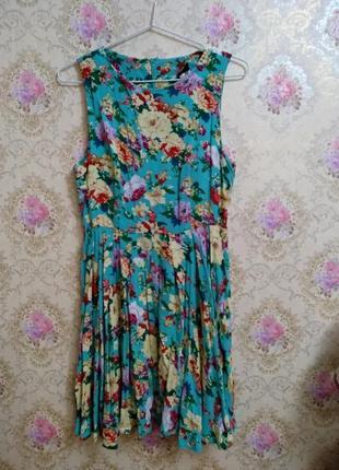 Невероятно красивое платье в цветы