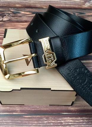 Ремень кожа в подарочной коробочке