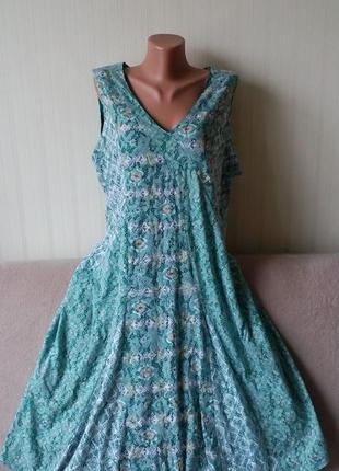 Платье светло зеленое, меланжевое двойное, от сlassic, пог 57 см, р. 20