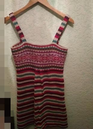 Домашнее шерстяное платье туника