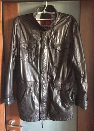 Куртка кожаная длинная большого размера и роста  louis croft  турция