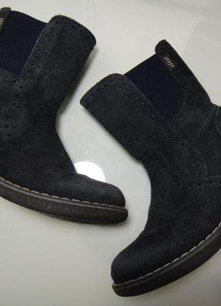 Демисезонные кожаные сапоги полу сапоги ботинки clic р. 25 (15,5 см