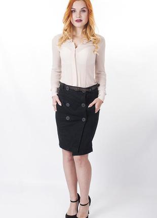 Sale чёрная джинсовая юбка kardinal italy