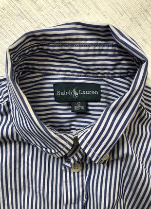 Ralph lauren  рубашка в синюю полоску на 12 лет . оригинал