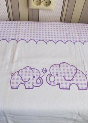 Детская скатерть со слониками