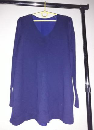 Пуловер с шифоновой cпинкой от тсм tchibo (чибо), германия евро 48/50 (наш 54/56):6