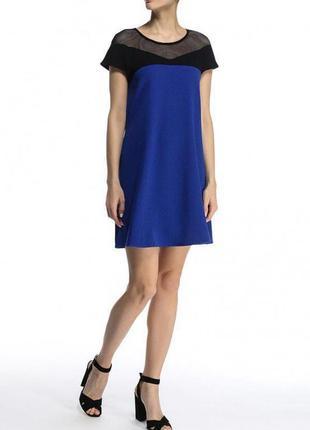 Платье zara черное синие сетка нарядное вечерние zara zara