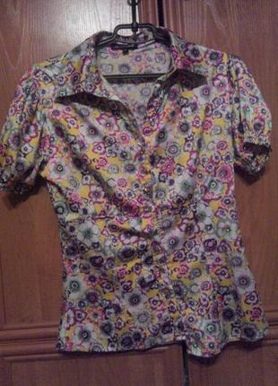 Блуза в цветочек roberto cavalli