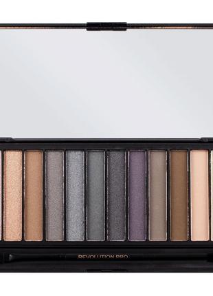 Палетка теней для макияжа smokey makeup revolution london