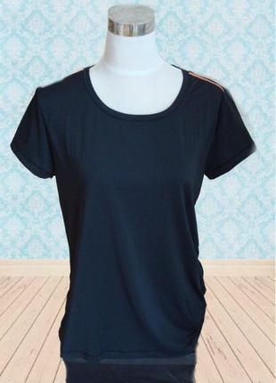 🐝🐝спортивная женская футболка черная  crevit 🐝🐝🐝