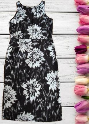 🌷🌼стильное красивое платье сарафан в принт цветы 100% лен planet 🌷🌼🌷
