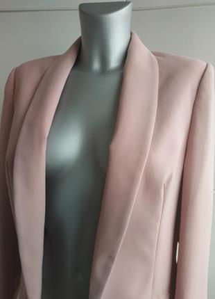 Стильный пиджак-кардиган  papaya пыльно-розового цвета4 фото