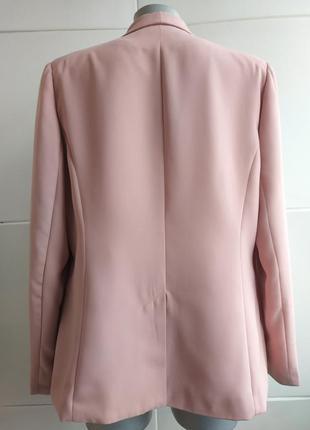 Стильный пиджак-кардиган  papaya пыльно-розового цвета6 фото