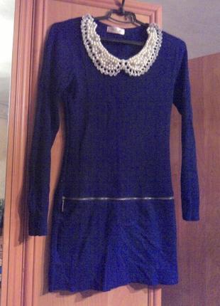 Платье с воротником в стиле одри хепберн