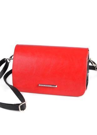 Красная маленькая сумка-клатч через плечо
