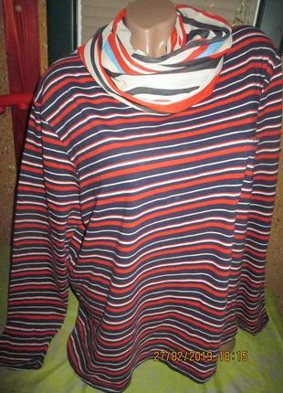 George*22*тонкая трикотажная кофта с шарфиком,пог-60-75см
