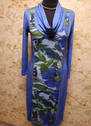 Стильная яркое трикотажное платье, размер 44-46