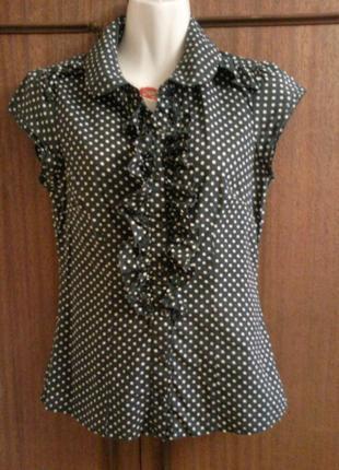 Блуза с  рюшой