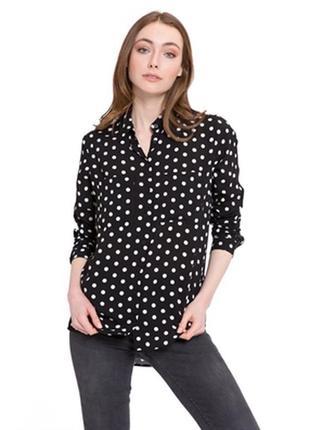 Блуза рубашка в горошек zara