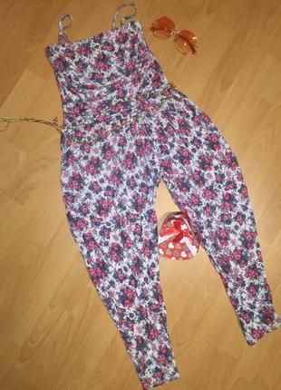 Летний цветочный комбез / комбинизон / костюм / штаны