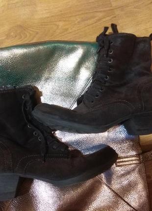 Замшевые деми ботинки 41 размер