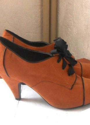 Фирменные ботильоны ботинки на широкую ножку new look, р.41 код b4201