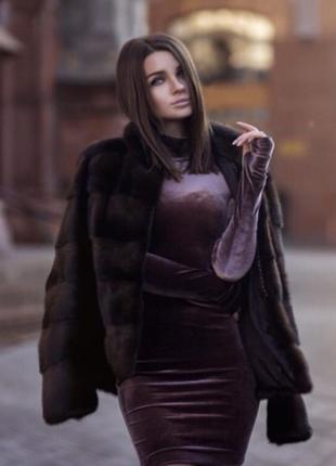Велюровое платье mira sezar