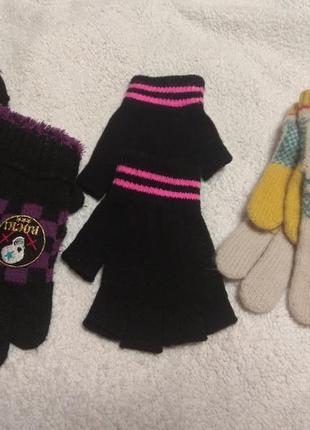 Перчатки для девочки 10-12лет