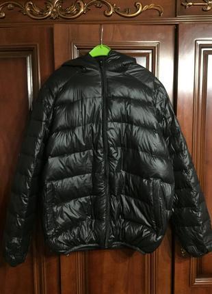 Классная демисезонная курточка, 100% утиный пух