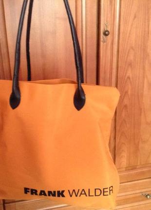 Стильная яркая брендовая сумка frank walder  шопер пляжная
