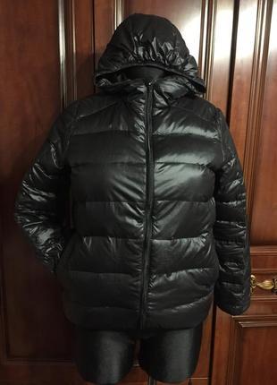 Куртка стильная, короткая, легкая, 100% утиный пух