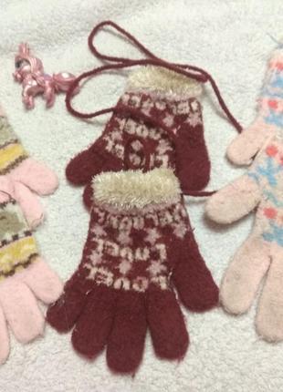 Перчатки для девочки 3-6лет