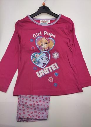 Детская пижамка щенячий патруль на девочку