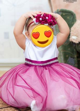 Платье на годик маленькой принцессе