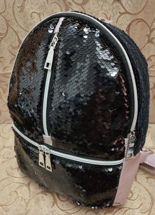Женский рюкзак эко-кожа пайетки д120