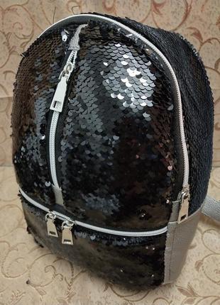 Женский рюкзак эко-кожа пайетки д121