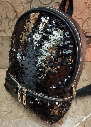Женский рюкзак эко-кожа пайетки д124