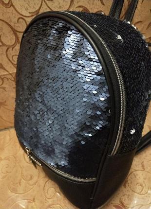 Женский рюкзак эко-кожа пайетки д127
