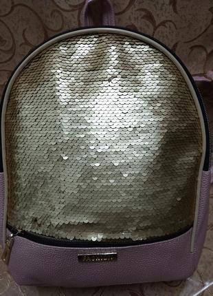 Женский рюкзак эко-кожа пайетки д130