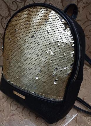 Женский рюкзак эко-кожа пайетки д132