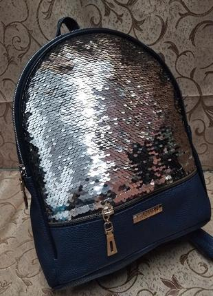 Женский рюкзак эко-кожа пайетки д133